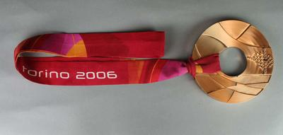 Bronze medal awarded to Alisa Camplin, Women's Aerial Freestyle skiing, 2006 Winter Olympic Games