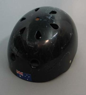 Helmet worn by Alisa Camplin whilst competing in freestyle aerials, 2002 and 2006 Winter Olympic Games