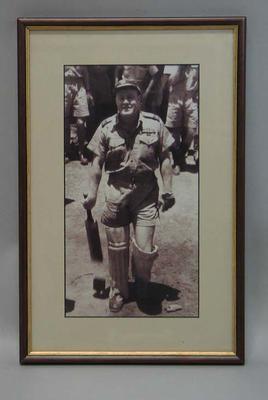 Framed photograph of Keith 'Bluey' Truscott