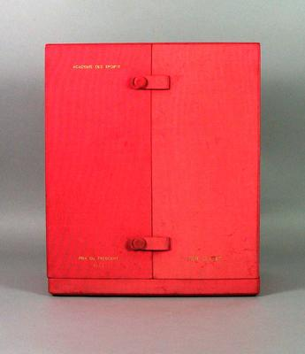 Presentation case for clock, c1966