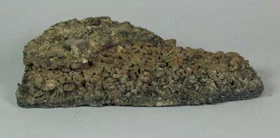 Piece of bitumen from the 1883 Grandstand at the Melbourne Cricket Ground