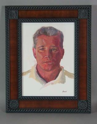 Framed oil painting of Dean Jones