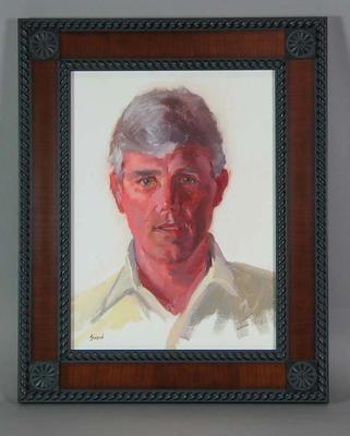 Framed oil painting of Paul Sheahan