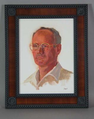 Framed oil painting of Robert Templeton