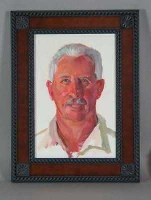 Framed oil painting of Max Walker