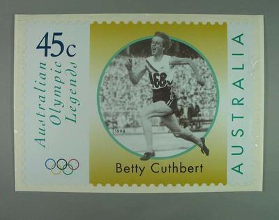 "Poster - Australia Post's ""Australian Olympic Legends"" featuring Betty Cuthbert"
