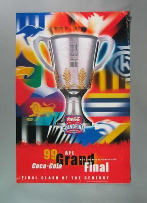 Posters x 5 - 1999 AFL Grand Final  ' Clash of the Century - sponsor Coca-Cola