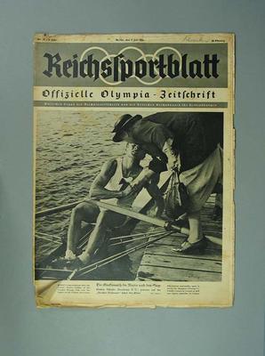 """Magazine, """"Reichssportblatt"""", dated 1 July 1936"""