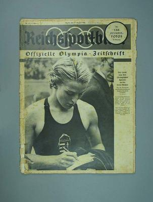 "Magazine, ""Reichssportblatt"", dated 11 August 1936"