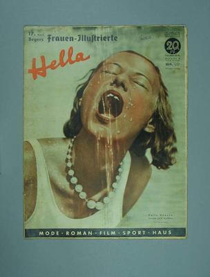"""Magazine, """"Frauen-Illustrierte/Hella"""", dated 2 July 1936"""