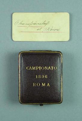 """Medal box, """"Campionato 1896 Roma"""""""