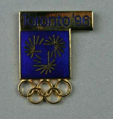 Lapel pin, Toronto 1996 Olympic Games bid; Clothing or accessories; 2006.4659