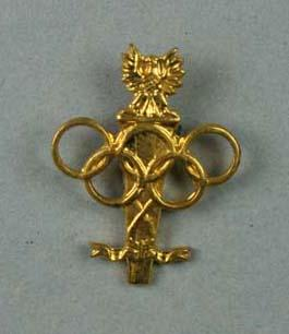 Four stick pins, Polish Olympic Committee