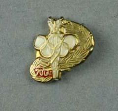 Two lapel pins, Polish Olympic Committee