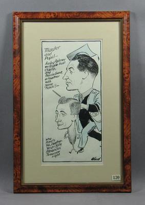 Cartoon of Amby Palmer & Bernie Grant c1950s, by Wells