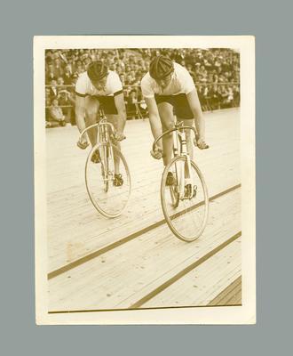 Photograph of Australian cyclist Chris Wheeler & anor., 1936 Berlin Olympic Games