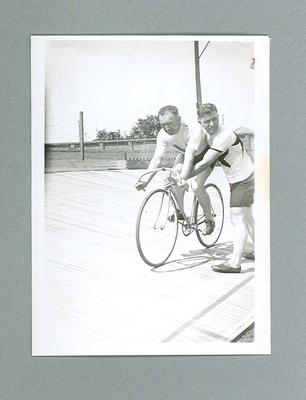 Photograph - Australian cyclist Chris Wheeler and another, c. 1930s; Photography; 2006.4707