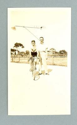 Photograph - Australian cyclist Chris Wheeler and another, circa 1930s; Photography; 2006.4709