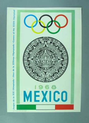 Two posters, 1968 Olympic Games