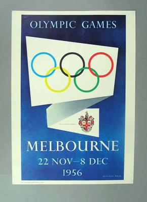 Poster, 1956 Olympic Games