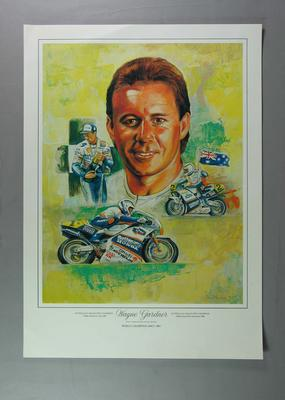 "Print, ""Wayne Gardner"" by Bryan Membrey"