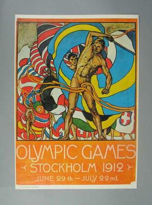 Poster, 1912 Olympic Games