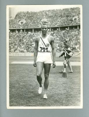 Photograph of athlete Jesse Owens, 1936 Berlin Olympic Games