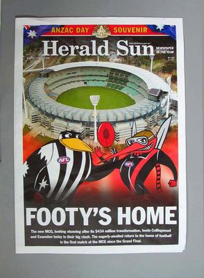 'Herald-Sun' supplement - Anzac Day at Footy's Home, MCG - 25 April 2006