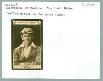 Trade card featuring John Scott, Wills Cigarettes c1930s