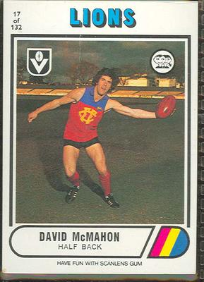 1976 Scanlens VFL Football David McMahon trade card