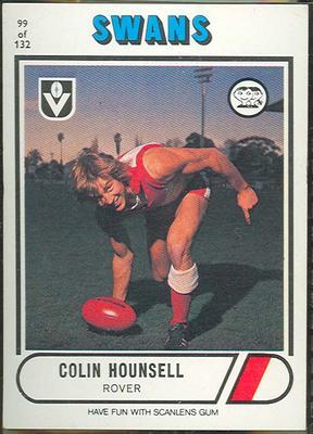 1976 Scanlens VFL Football Colin Hounsell trade card
