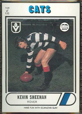 1976 Scanlens VFL Football Kevin Sheehan trade card