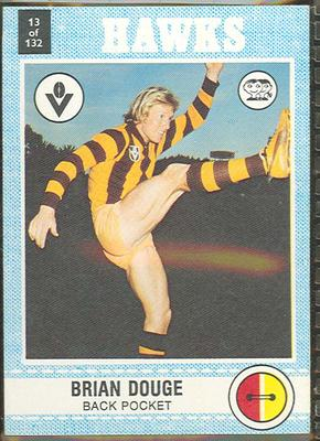 1977 Scanlens VFL Football Brian Douge trade card