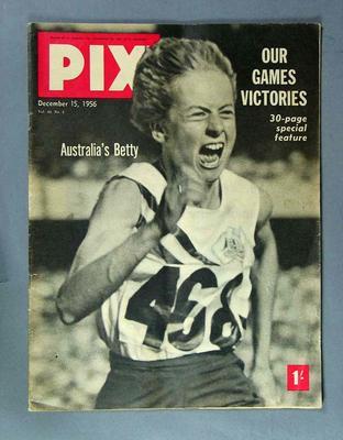 Magazine -' Pix' Vol. 44. No.2, 15 December 1956 - Betty Cuthbert on front cover