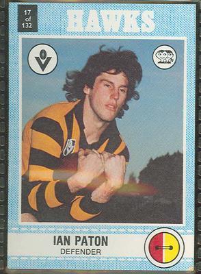 1977 Scanlens VFL Football Ian Paton trade card