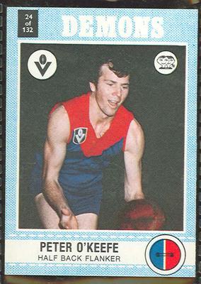 1977 Scanlens VFL Football Peter O'Keefe trade card
