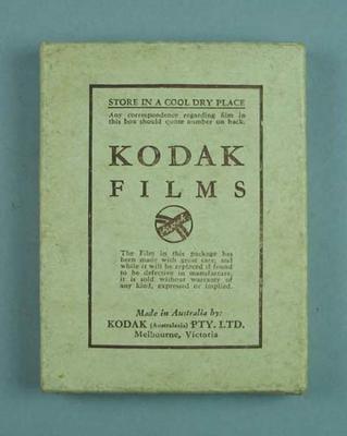 Box with nine glass plates, Kodak Films