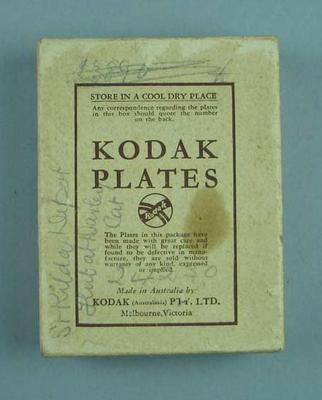 Box with six glass plates, Kodak Plates