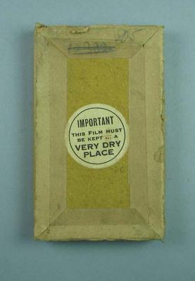 Box, contains a glass plate negative