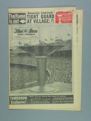 Newspaper, The Sun - 10 December 1956
