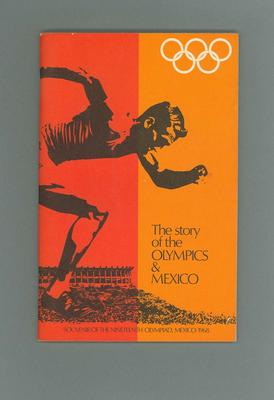 Booklet - The Story of the Olympics & Mexico -  souvenir 1968 Olympic Games