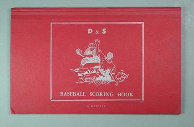 Red D & S Baseball Scoring Book - unused