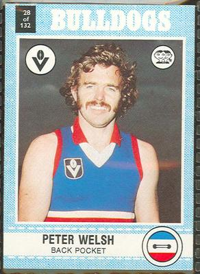 1977 Scanlens VFL Football Peter Welsh trade card