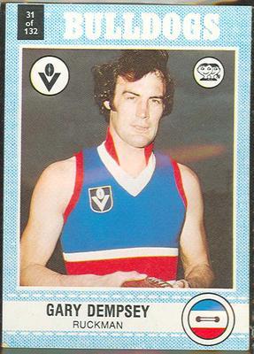 1977 Scanlens VFL Football Gary Dempsey trade card