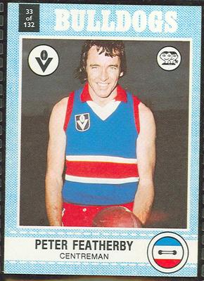 1977 Scanlens VFL Football Peter Featherby trade card