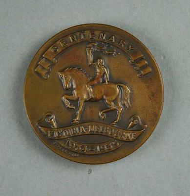 Medal, Australian Water Polo Championships Victorian Centenary 1934-35