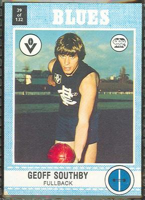 1977 Scanlens VFL Football Geoff Southby trade card