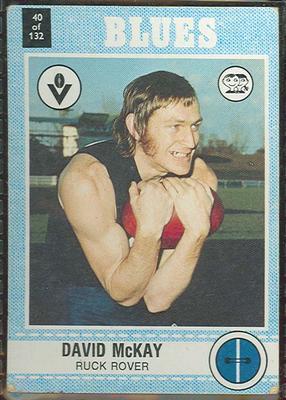1977 Scanlens VFL Football David McKay trade card