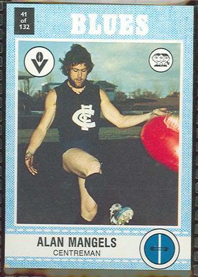 1977 Scanlens VFL Football Alan Mangels trade card