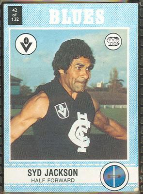 1977 Scanlens VFL Football Syd Jackson trade card